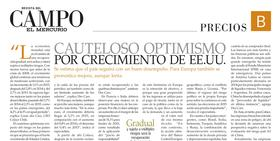 Cauteloso optimismo por crecimiento de EEUU /Louis des Cars / El Mercurio Revista CAMPO